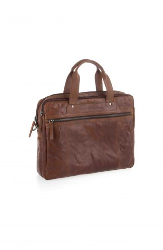 "SPIKES & SPARROW A4 Laptoptas 15"" Bruin 24626 topbags.nl Holtkamp Lederwaren Hengelo"
