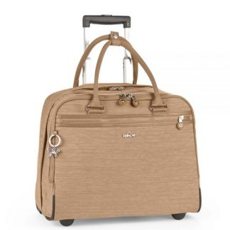 Kipling New Ceroc KW Laptoptrolley Dazz Tobacco Topbags.nl Holtkamp Lederwaren Hengelo