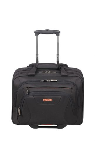 "American Tourister At Work Roling Tote 16,6"" Black voorkant"