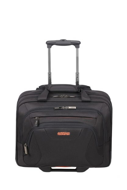 """American Tourister At Work Roling Tote 16,6"""" Black voorkant"""