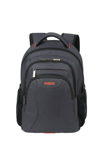 "American Tourister At Work Laptop Backpack 15,6"" Grey/Orange voorkant"