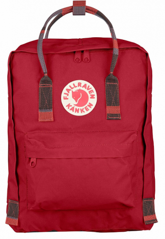 Fjallraven Kanken Deep Red-Random Blocked 325-915 voorkant
